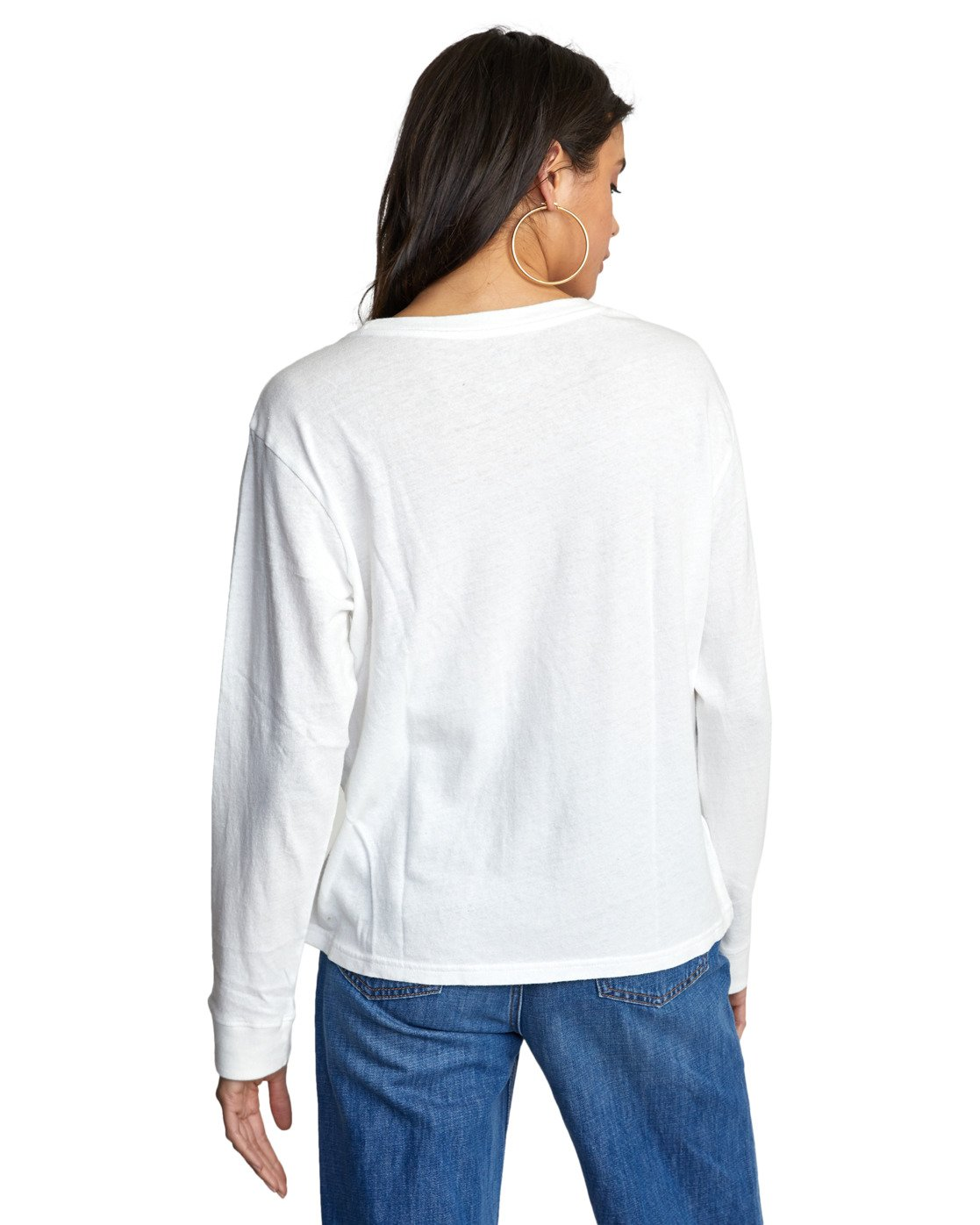 7 BIG RVCA STOLEN LONG SLEEVE TEE White AVJZT00103 RVCA