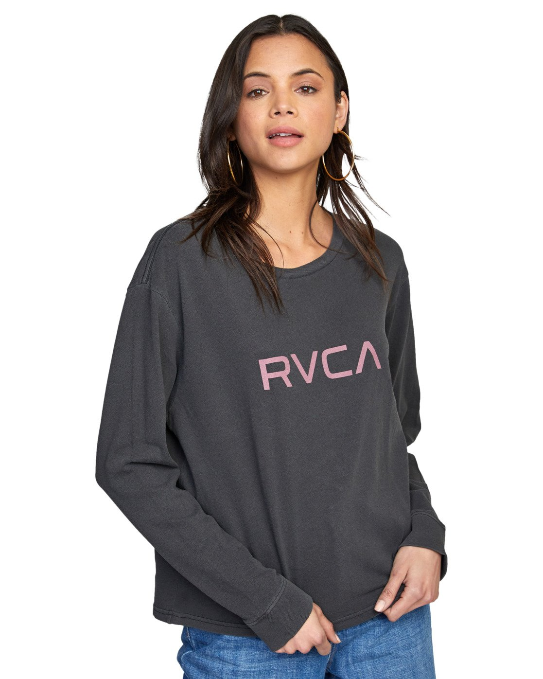 5 BIG RVCA STOLEN LONG SLEEVE TEE Black AVJZT00103 RVCA