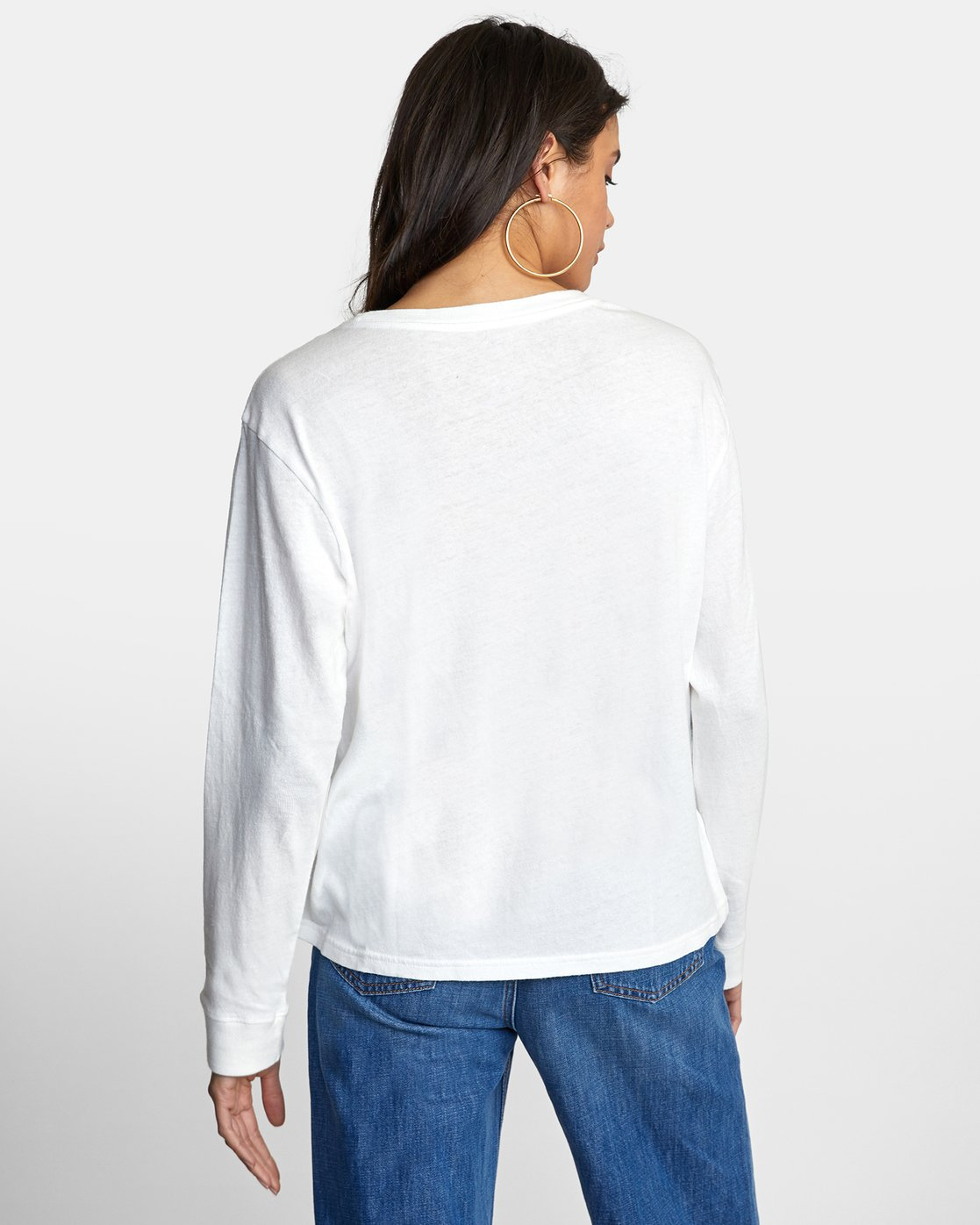 2 BIG RVCA STOLEN LONG SLEEVE TEE White AVJZT00103 RVCA