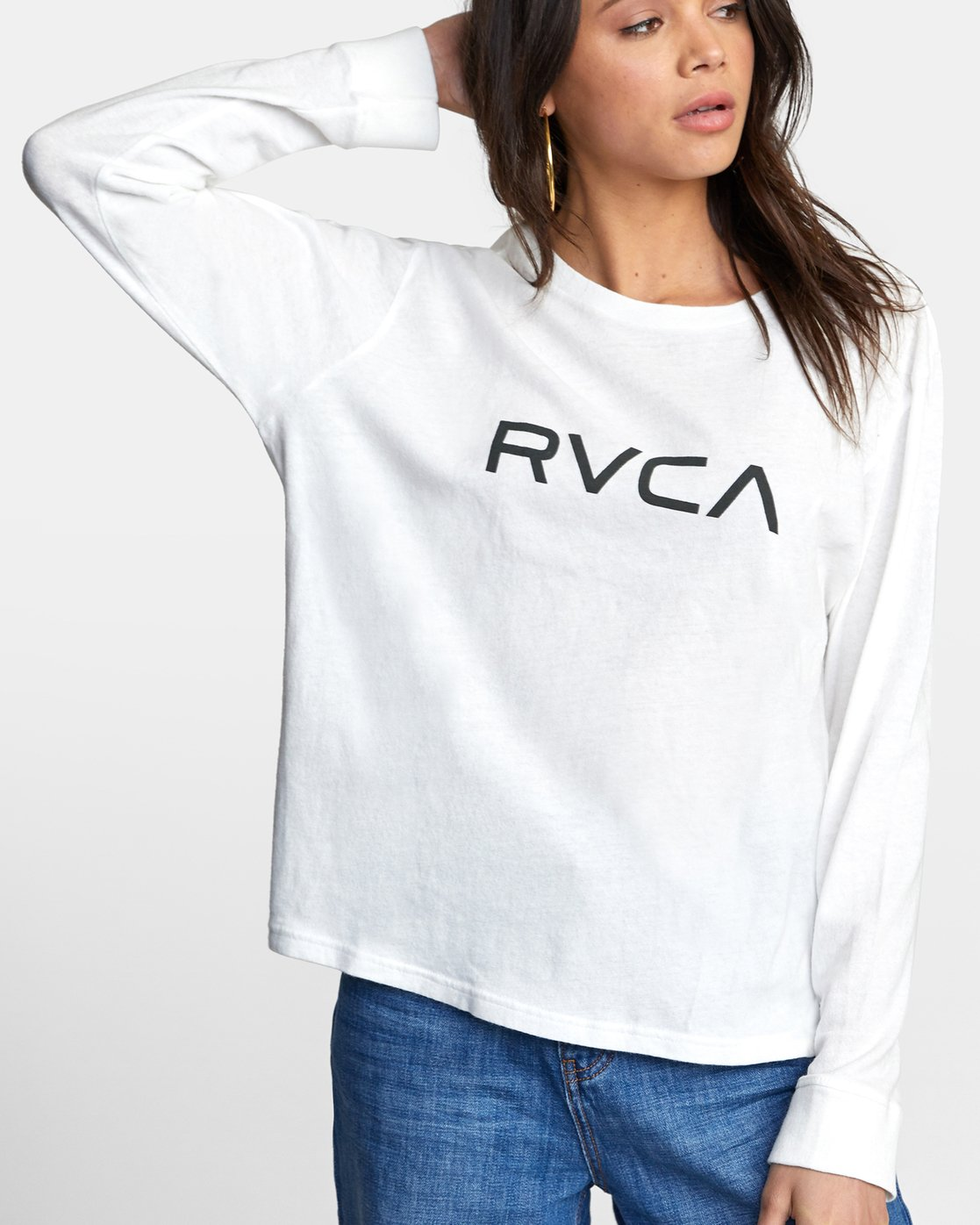 5 BIG RVCA STOLEN LONG SLEEVE TEE White AVJZT00103 RVCA
