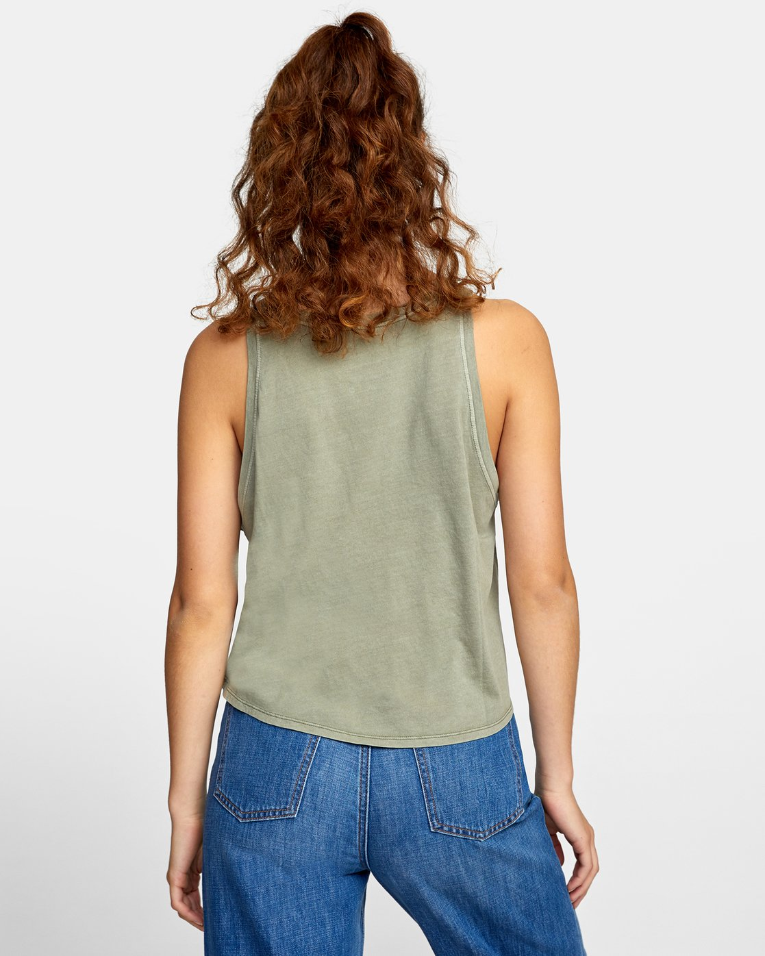 1 BLINDED TANK TOP Green AVJZT00110 RVCA