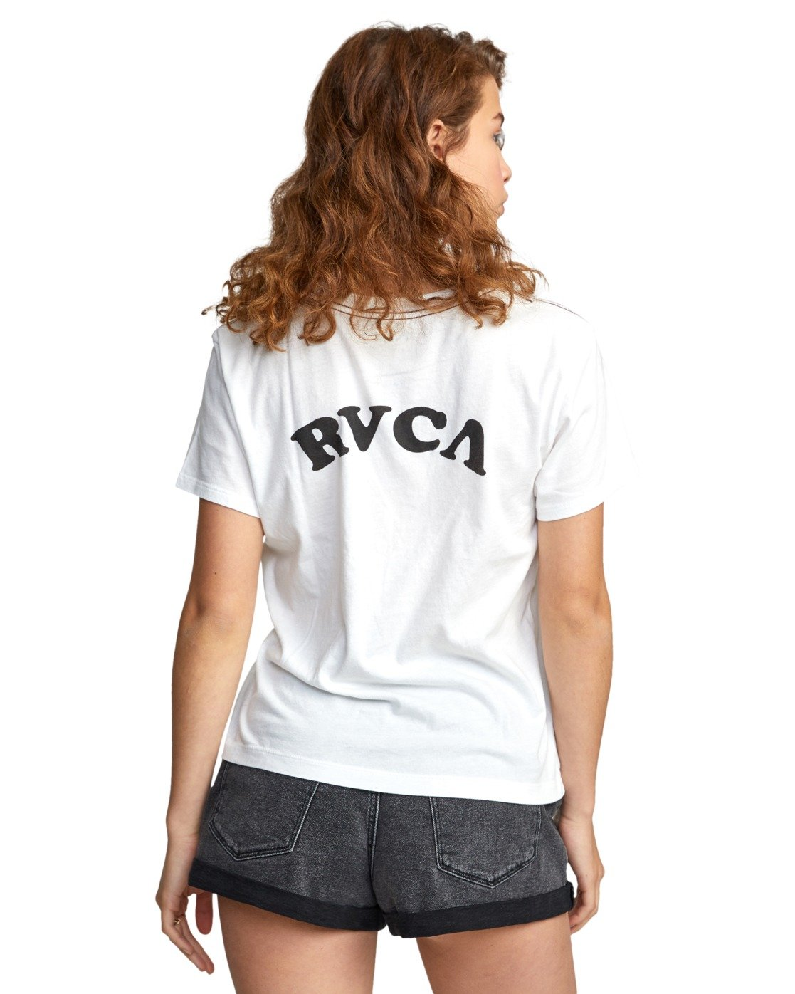 7 RVCA TUESDAY TEE White AVJZT00115 RVCA