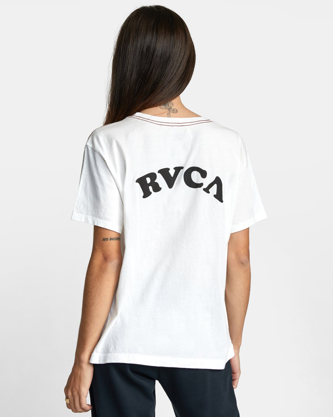 1 RVCA TUESDAY TEE White AVJZT00115 RVCA