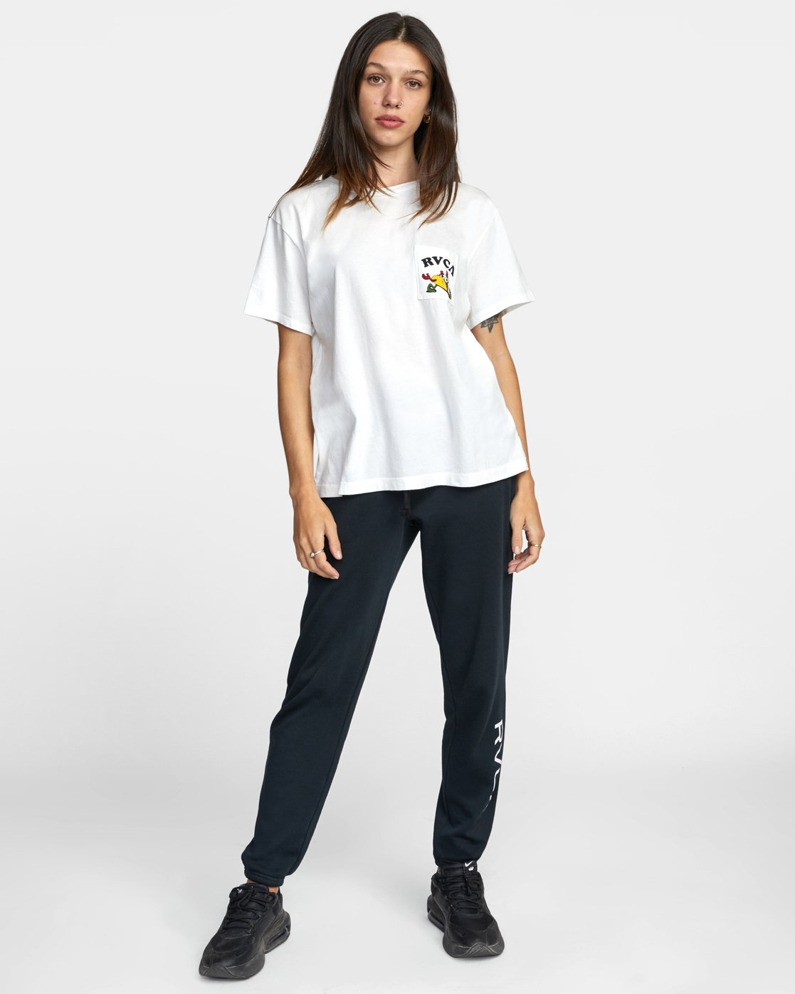 3 RVCA TUESDAY TEE White AVJZT00115 RVCA