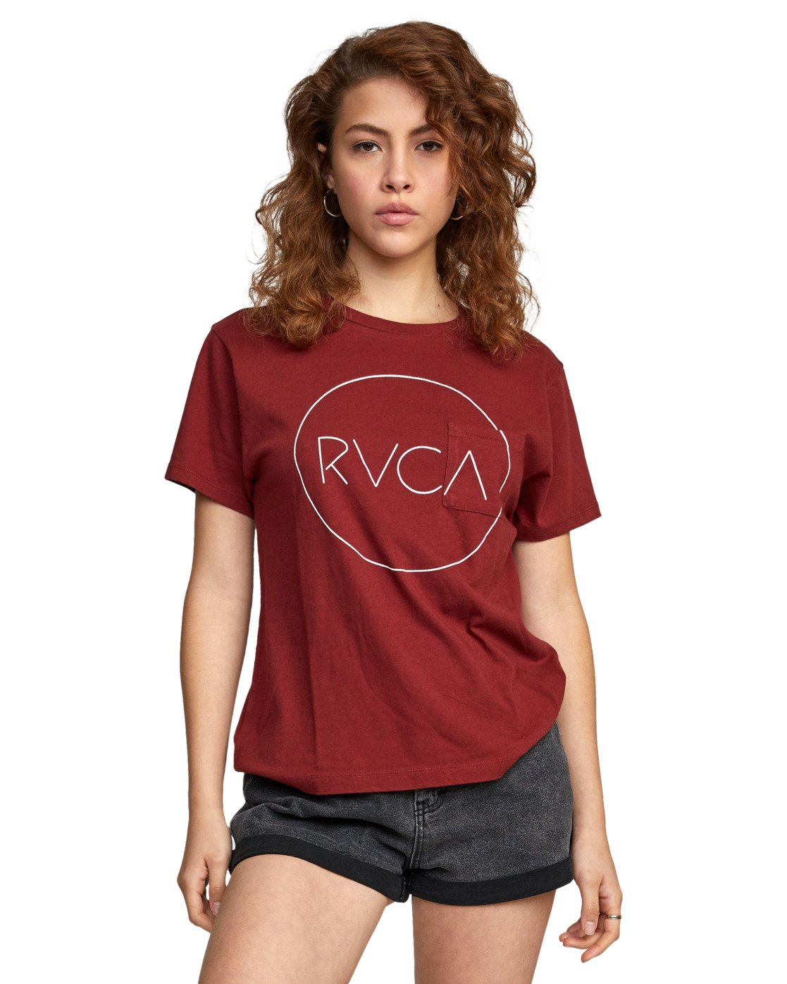 5 SPHERED TEE Red AVJZT00116 RVCA