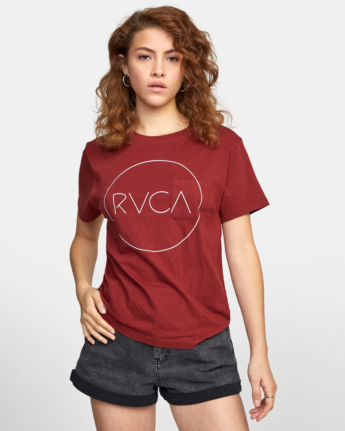 0 SPHERED TEE Red AVJZT00116 RVCA
