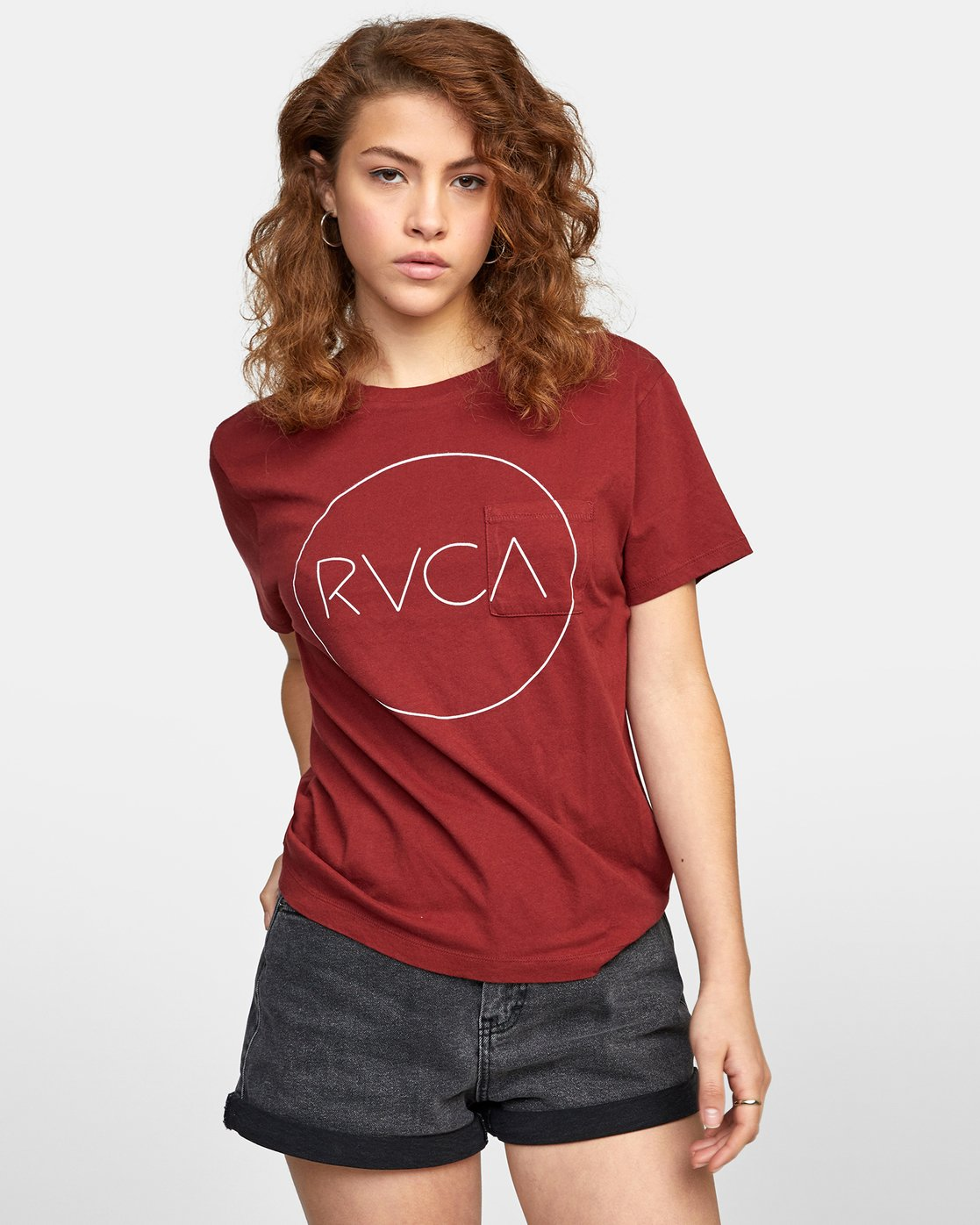 2 SPHERED TEE Red AVJZT00116 RVCA