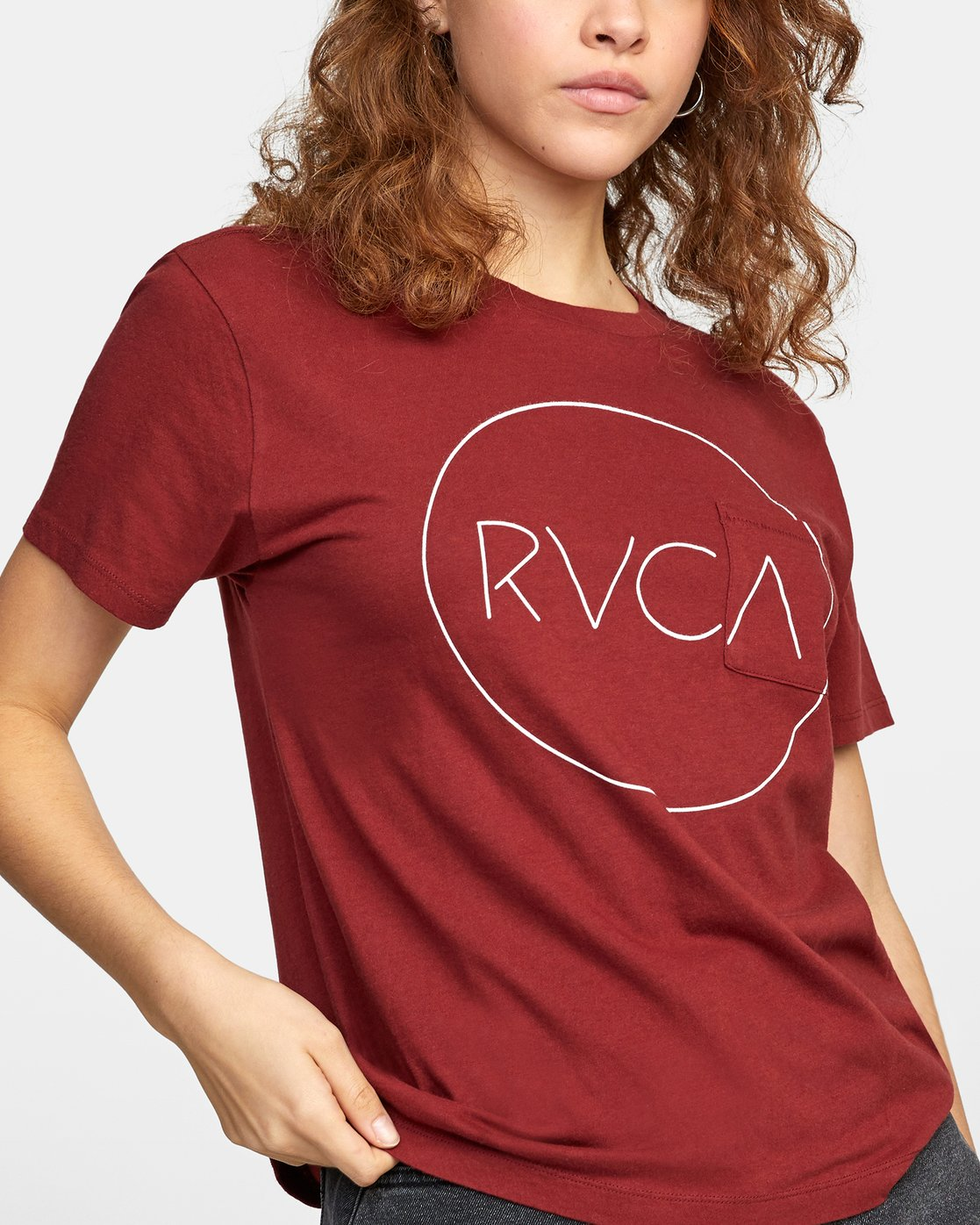 4 SPHERED TEE Red AVJZT00116 RVCA