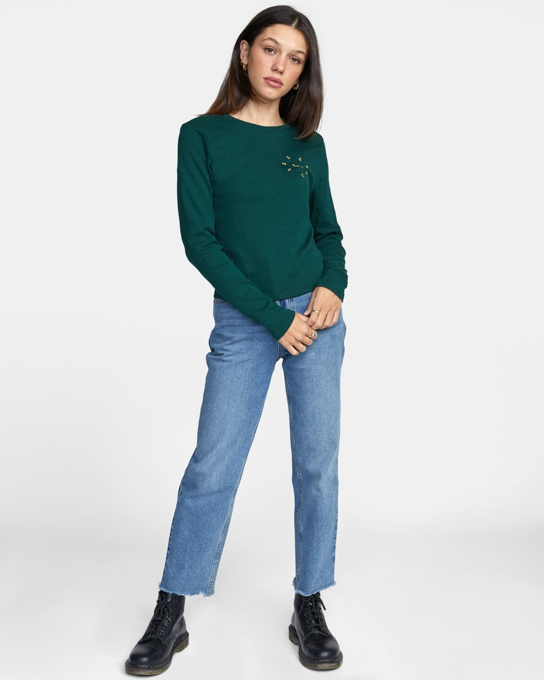 3 SPARKS LONG SLEEVE TEE Green AVJZT00119 RVCA