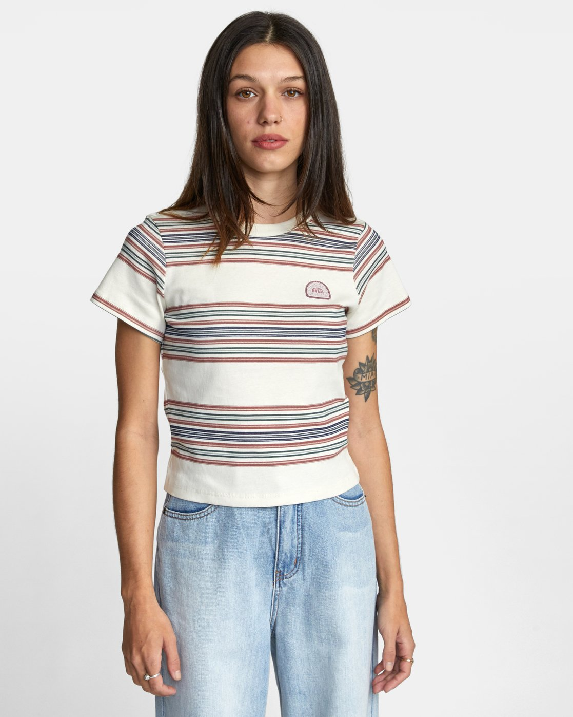 0 TAKE STRIPE TEE Black AVJZT00126 RVCA