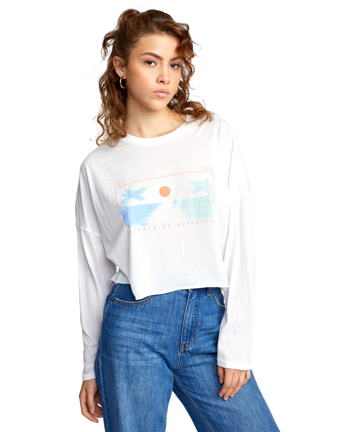 5 ATLANTIC VIEWS LONG SLEEVE TEE White AVJZT00141 RVCA