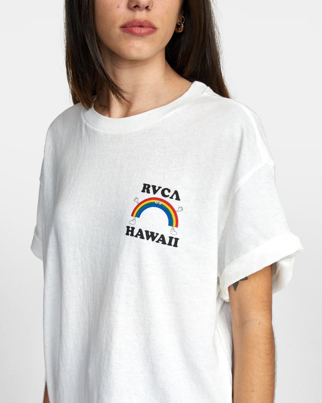 2 ALOHA RAINBOW TEE White AVJZT00145 RVCA