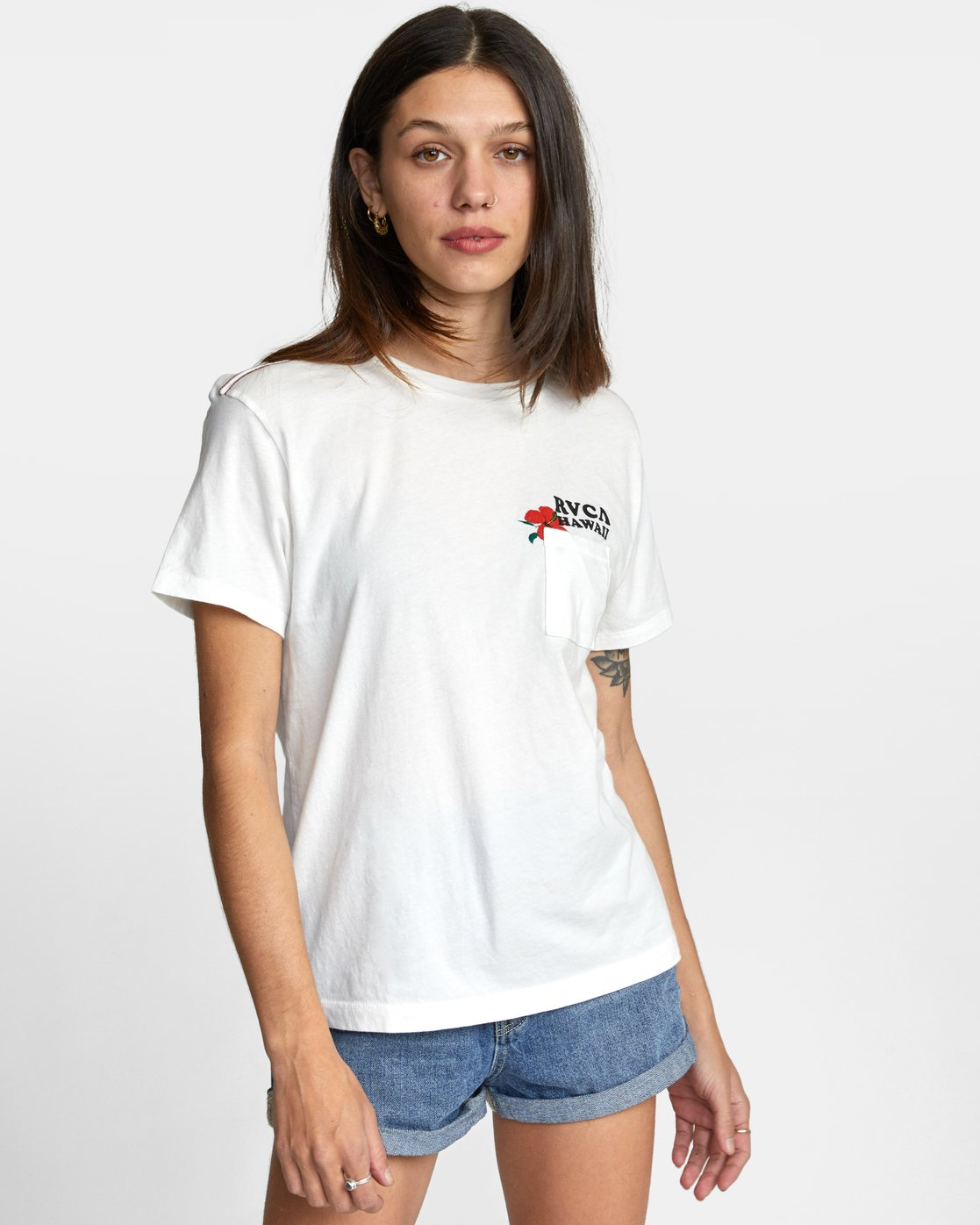 0 WISH YOU TEE White AVJZT00148 RVCA