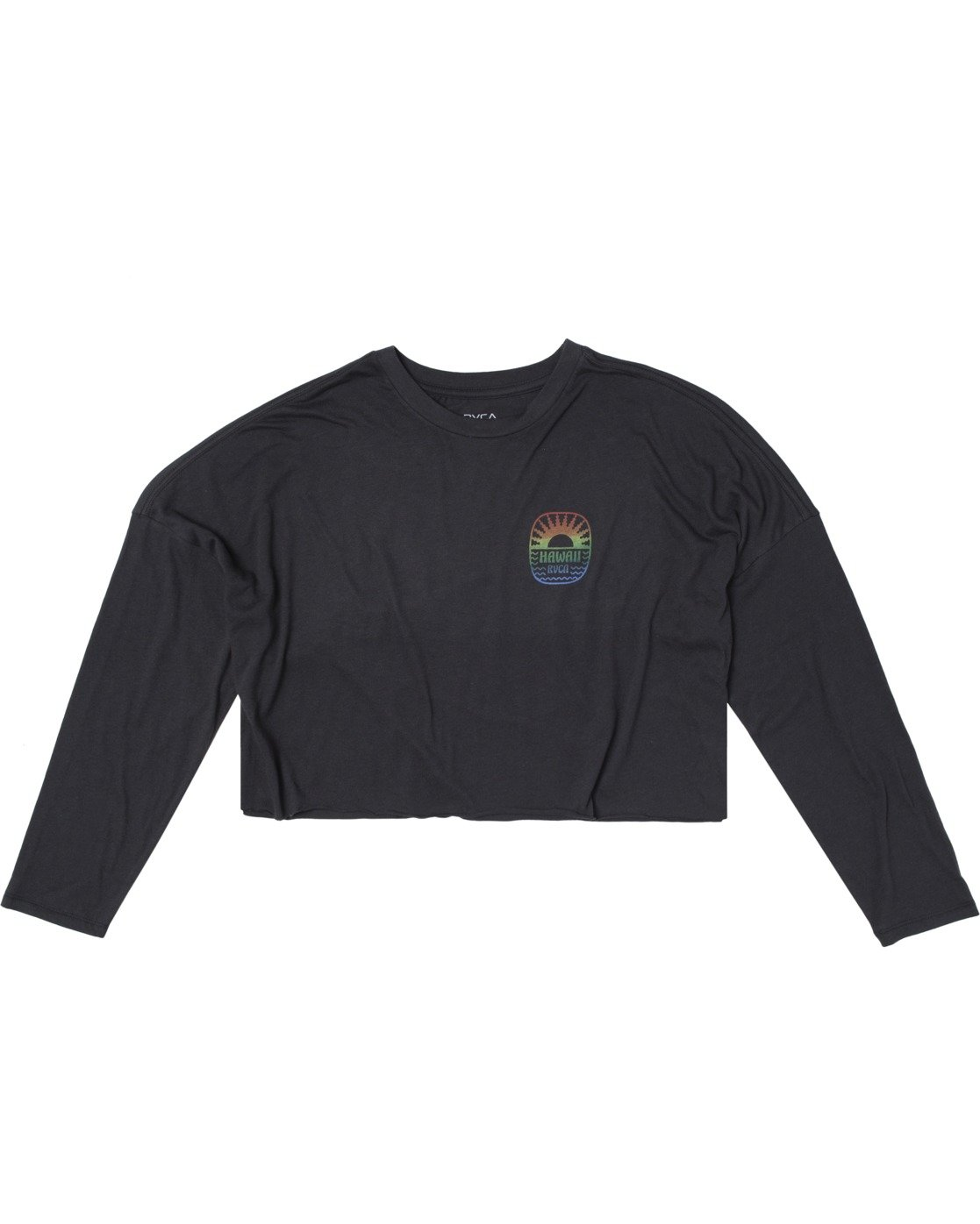 5 SEASCAPE LONG SLEEVE TEE Black AVJZT00149 RVCA