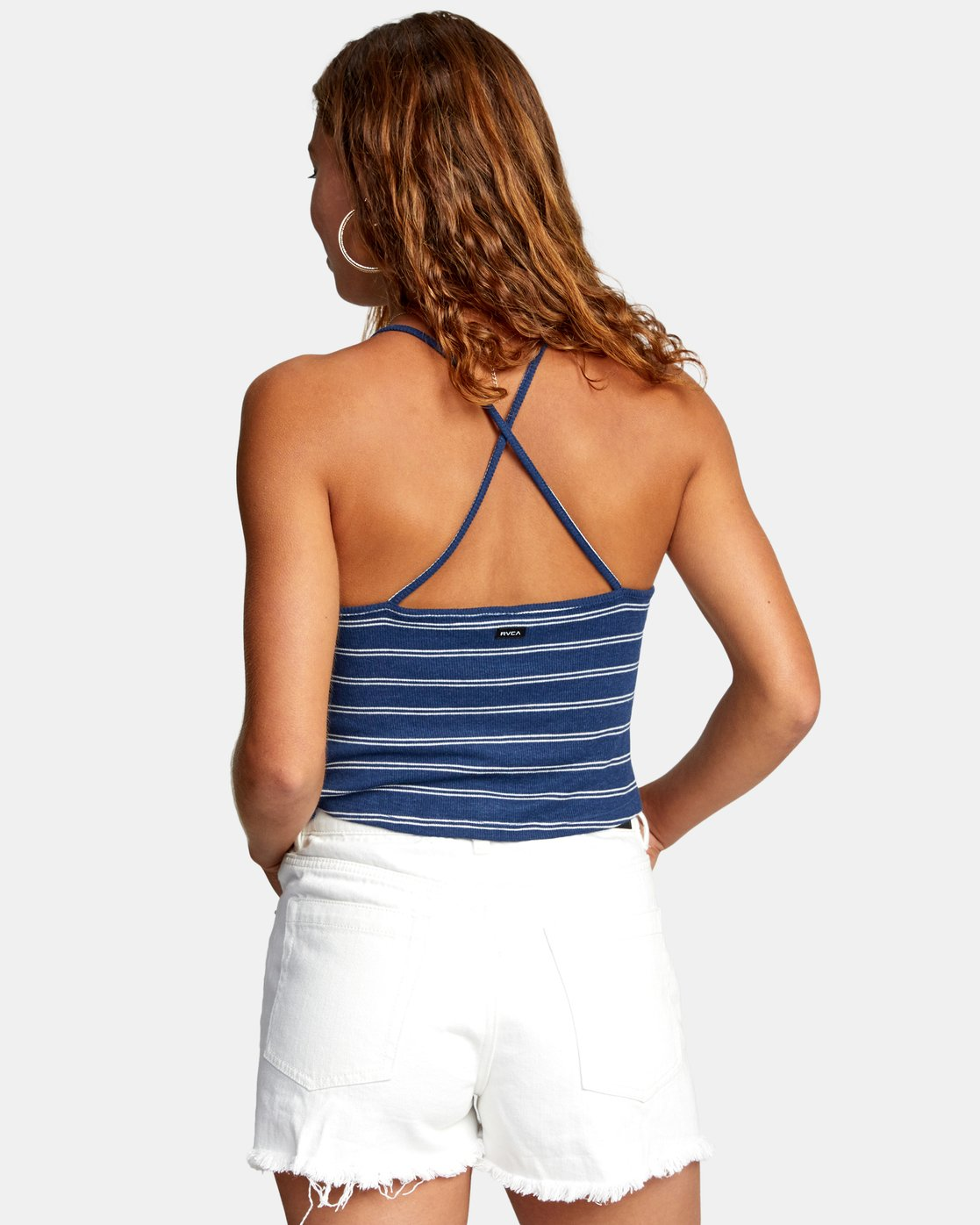 1 HAT TRICK TANK TOP Blue AVJZT00155 RVCA