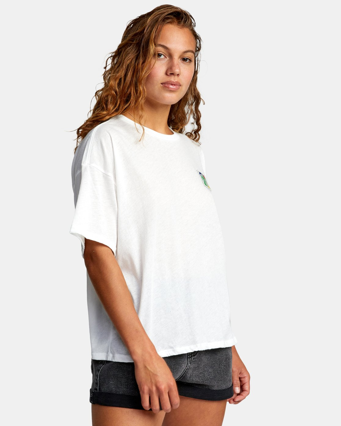 5 VA BOX SHORT SLEEVE TEE White AVJZT00181 RVCA
