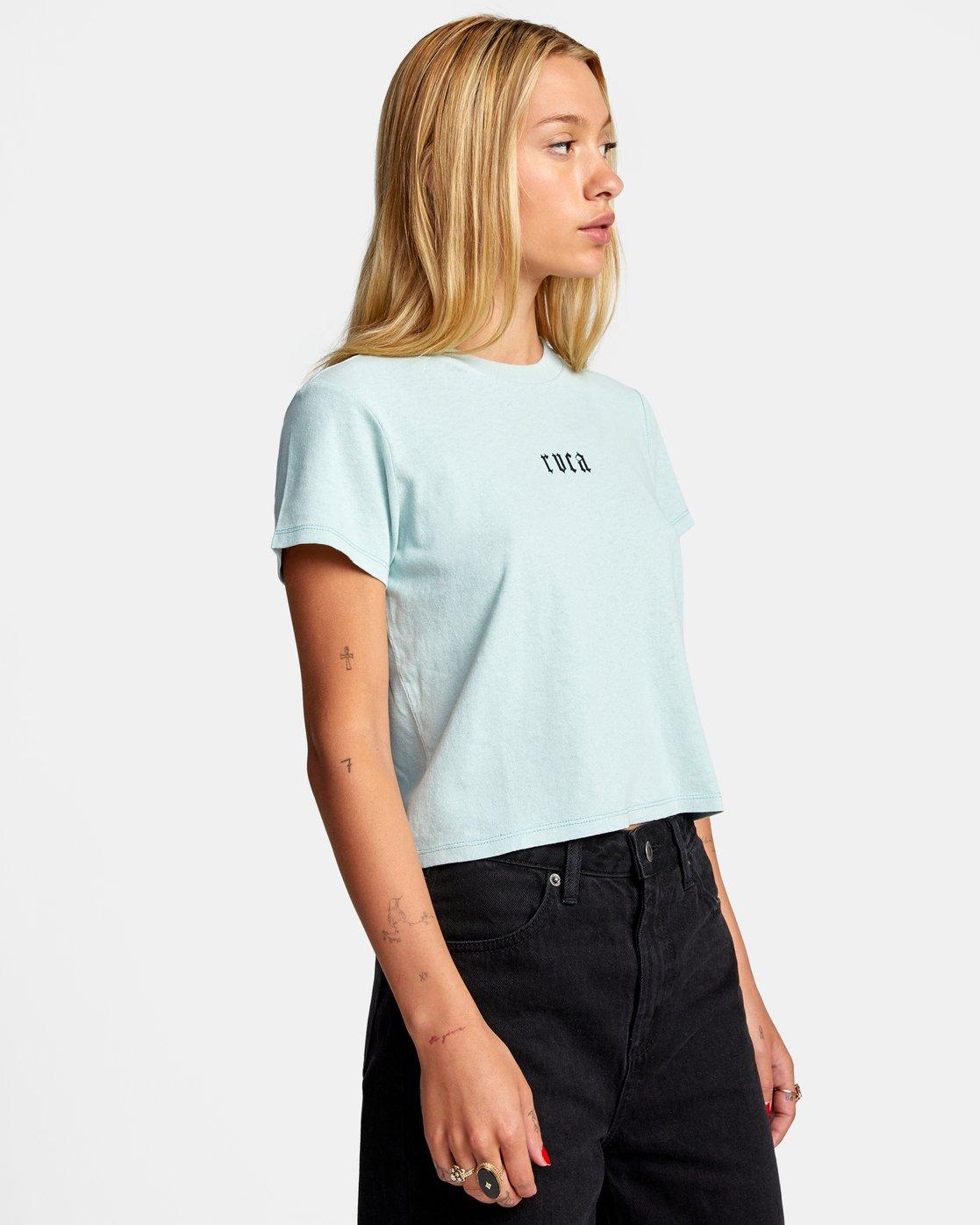 5 Benj Snakes Short Sleeve T-Shirt Blue AVJZT00191 RVCA