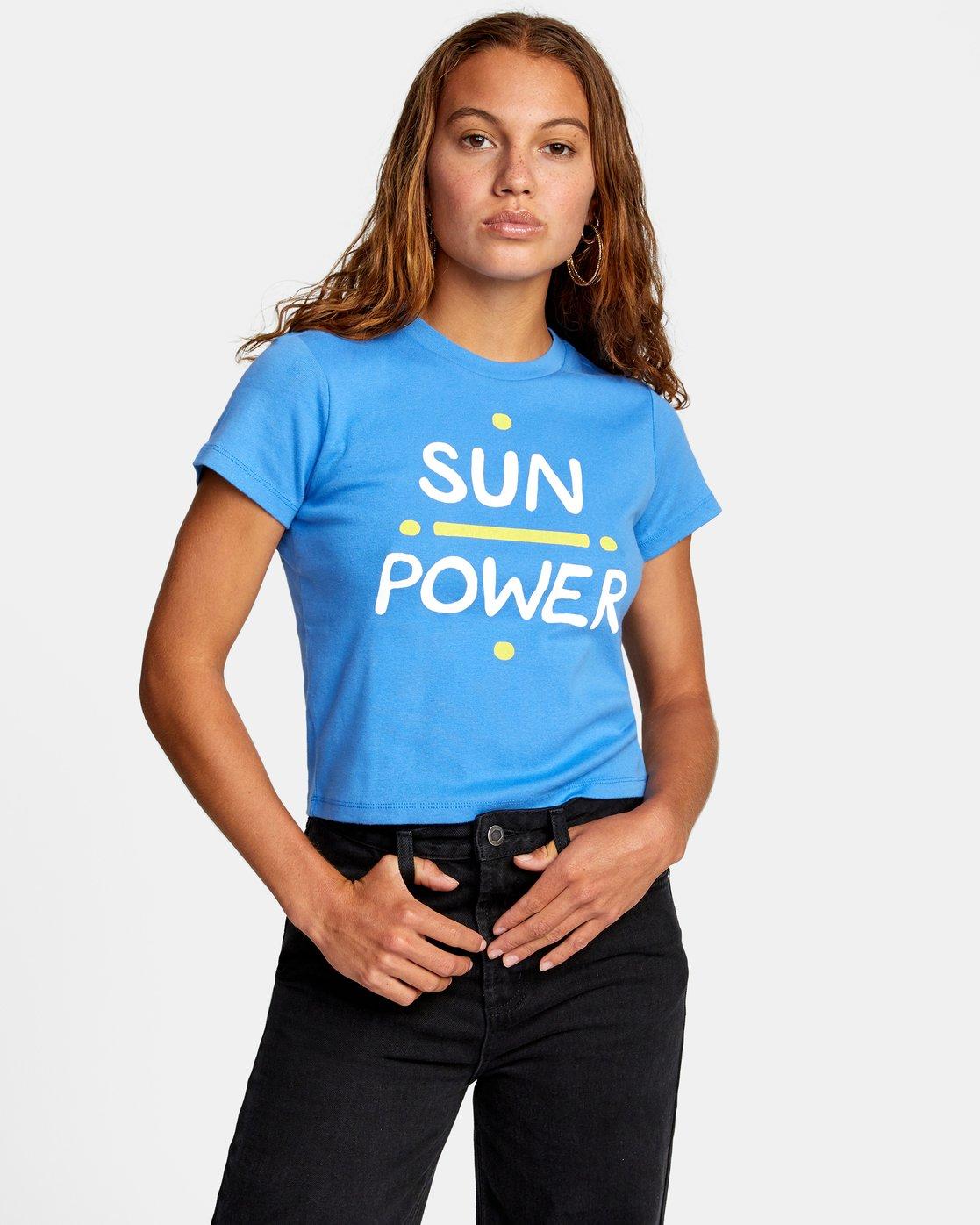 0 SUN POWER SHORT SLEEVE TEE Multicolor AVJZT00196 RVCA