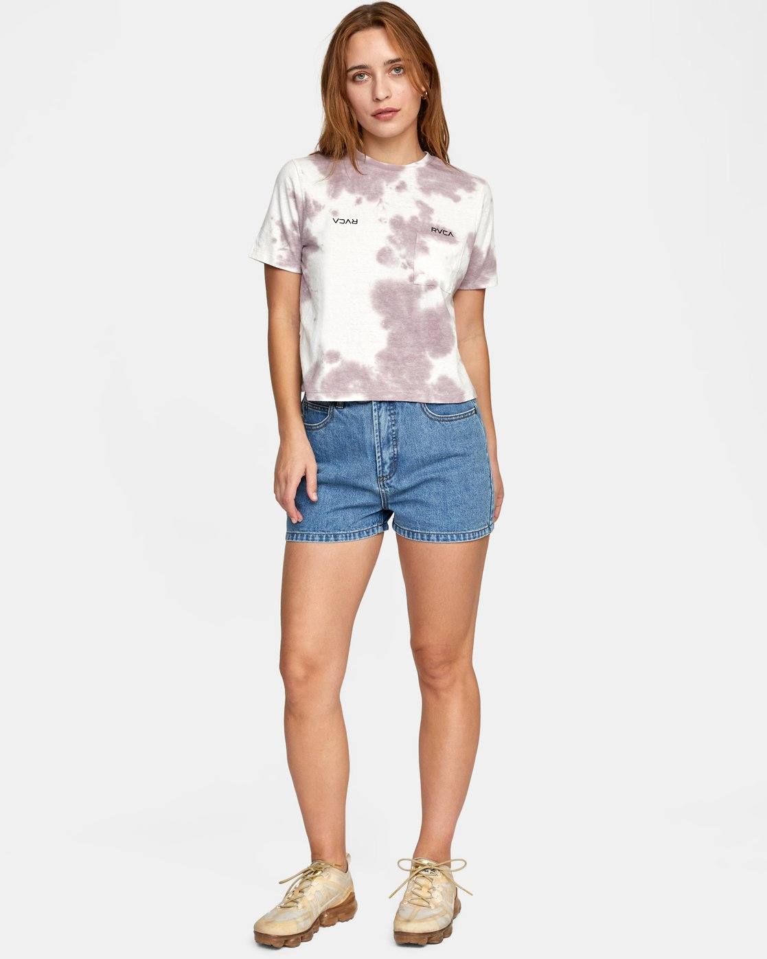 3 SMALL RVCA SHORT SLEEVE TEE White AVJZT00203 RVCA