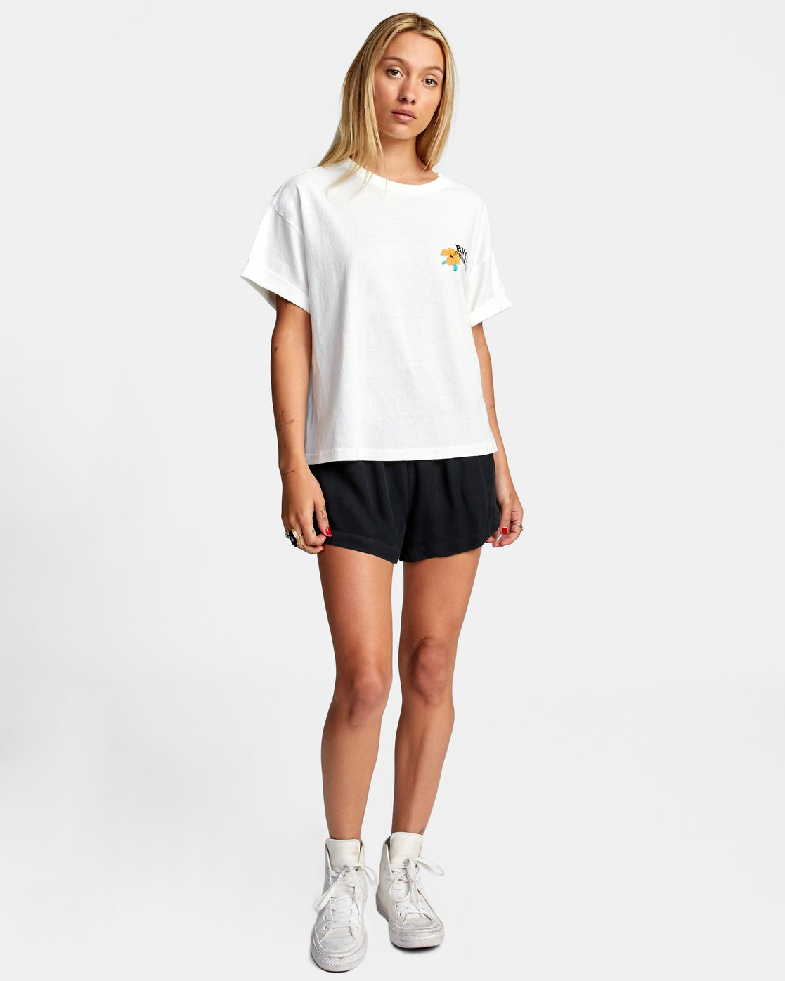 3 WISH YOU SHORT SLEEVE TEE White AVJZT00227 RVCA