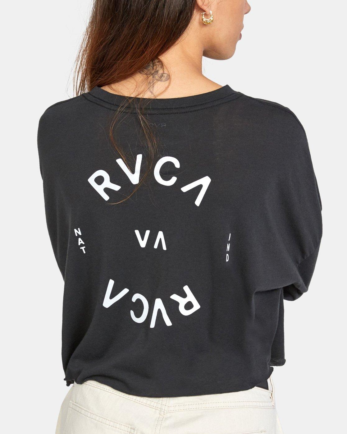 4 RVCA Balance Long Sleeve Tee Black AVJZT00245 RVCA
