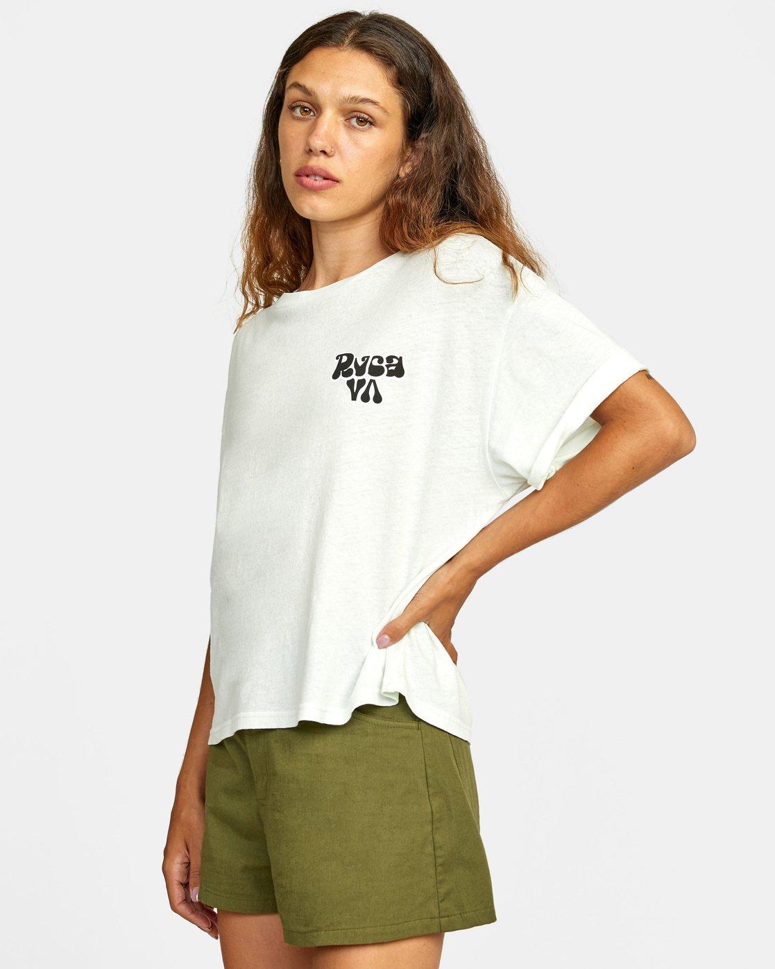 3 Bubbly RVCA Short Sleeve Tee White AVJZT00250 RVCA