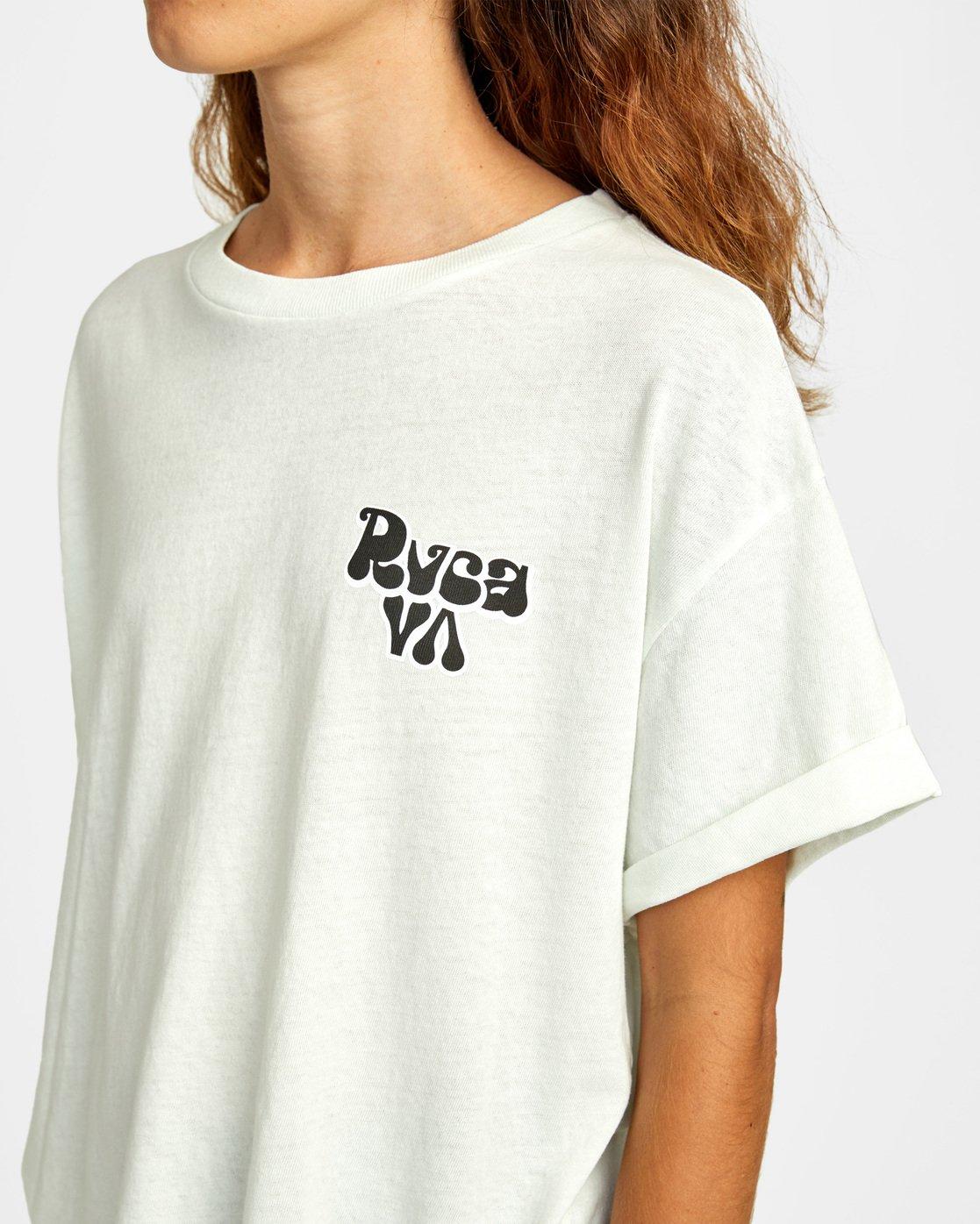 4 Bubbly RVCA Short Sleeve Tee White AVJZT00250 RVCA