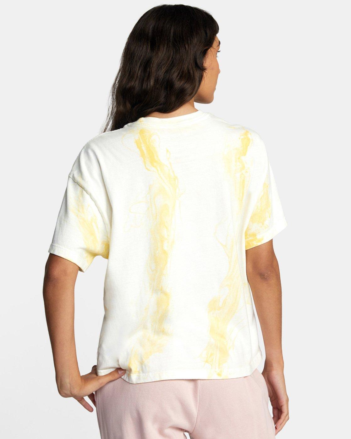 3 Abstract Dreams Short Sleeve Tee White AVJZT00252 RVCA