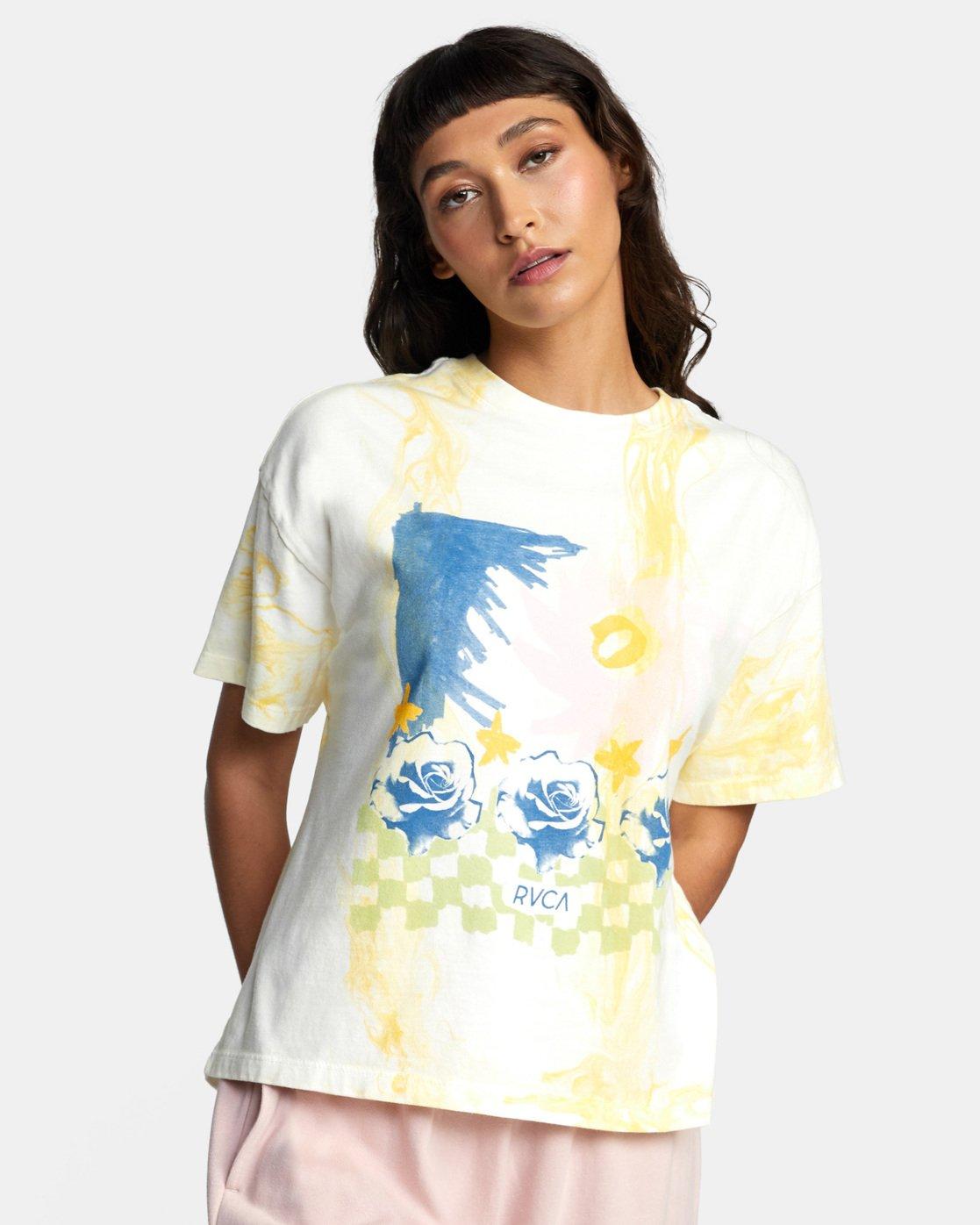 2 Abstract Dreams Short Sleeve Tee White AVJZT00252 RVCA