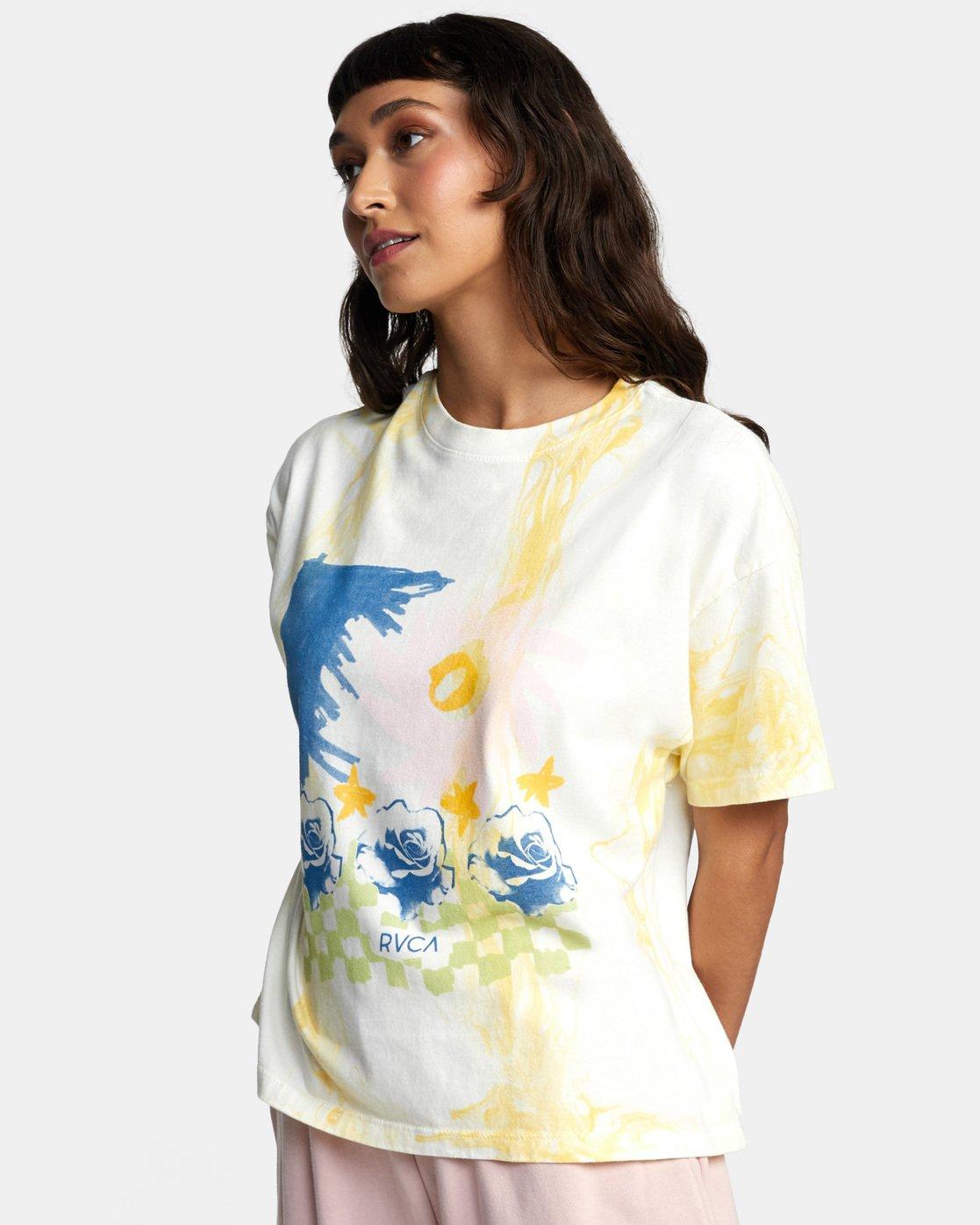 5 Abstract Dreams Short Sleeve Tee White AVJZT00252 RVCA
