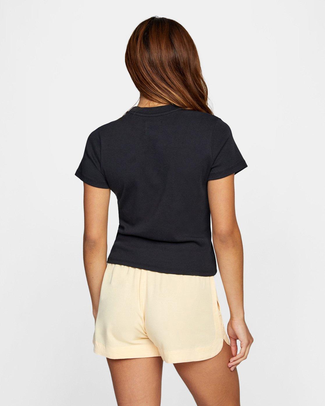 3 Trippe Dana Short Sleeve Tee Black AVJZT00259 RVCA