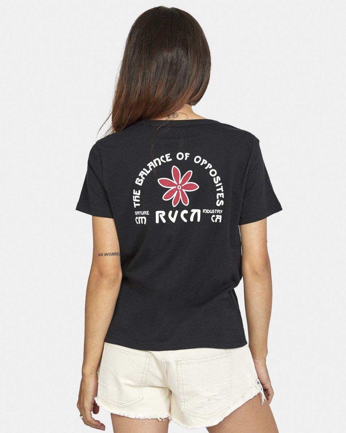 1 Throwback Short Sleeve Tee Black AVJZT00271 RVCA