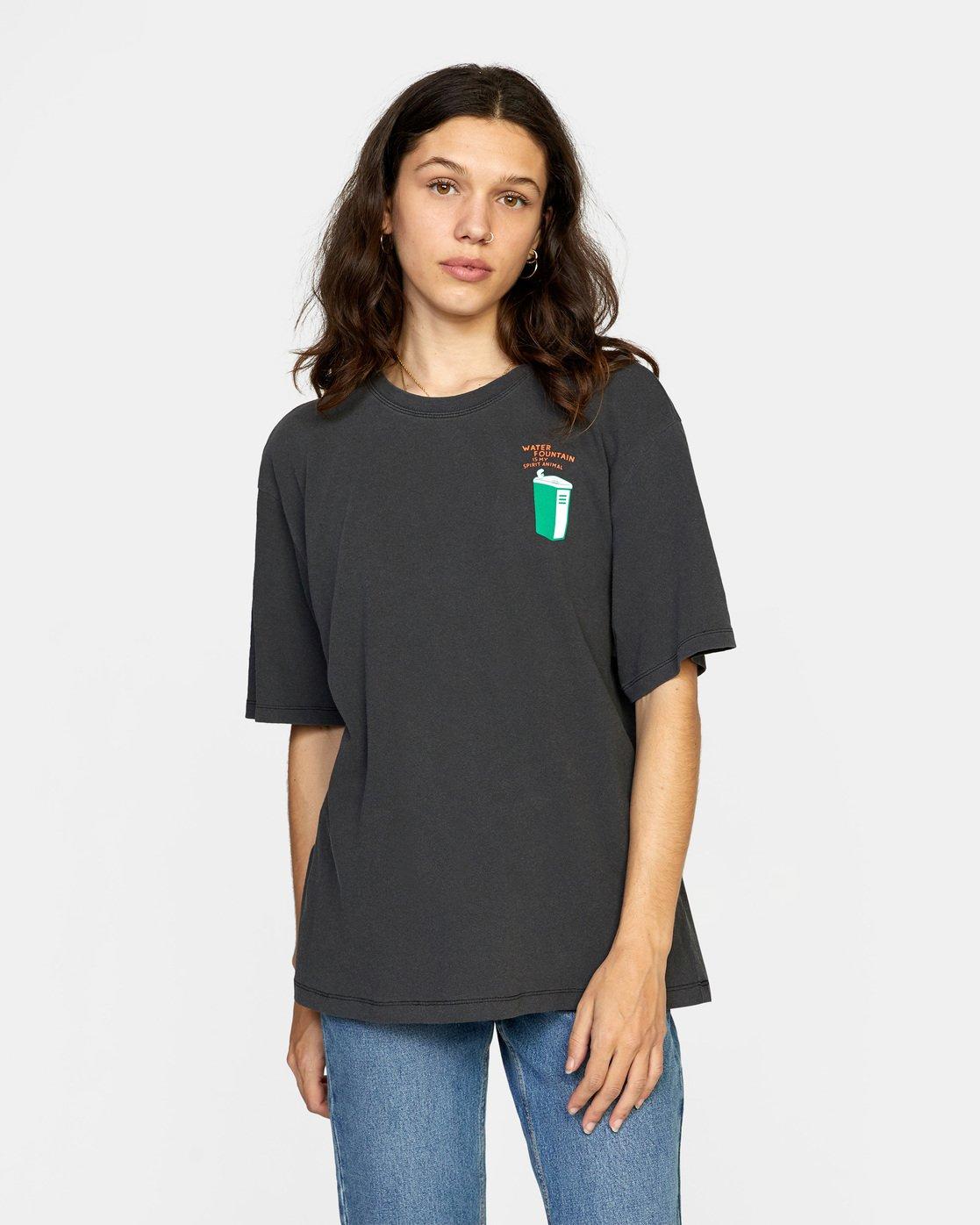 0 Chasing Short Sleeve Tee Black AVJZT00285 RVCA