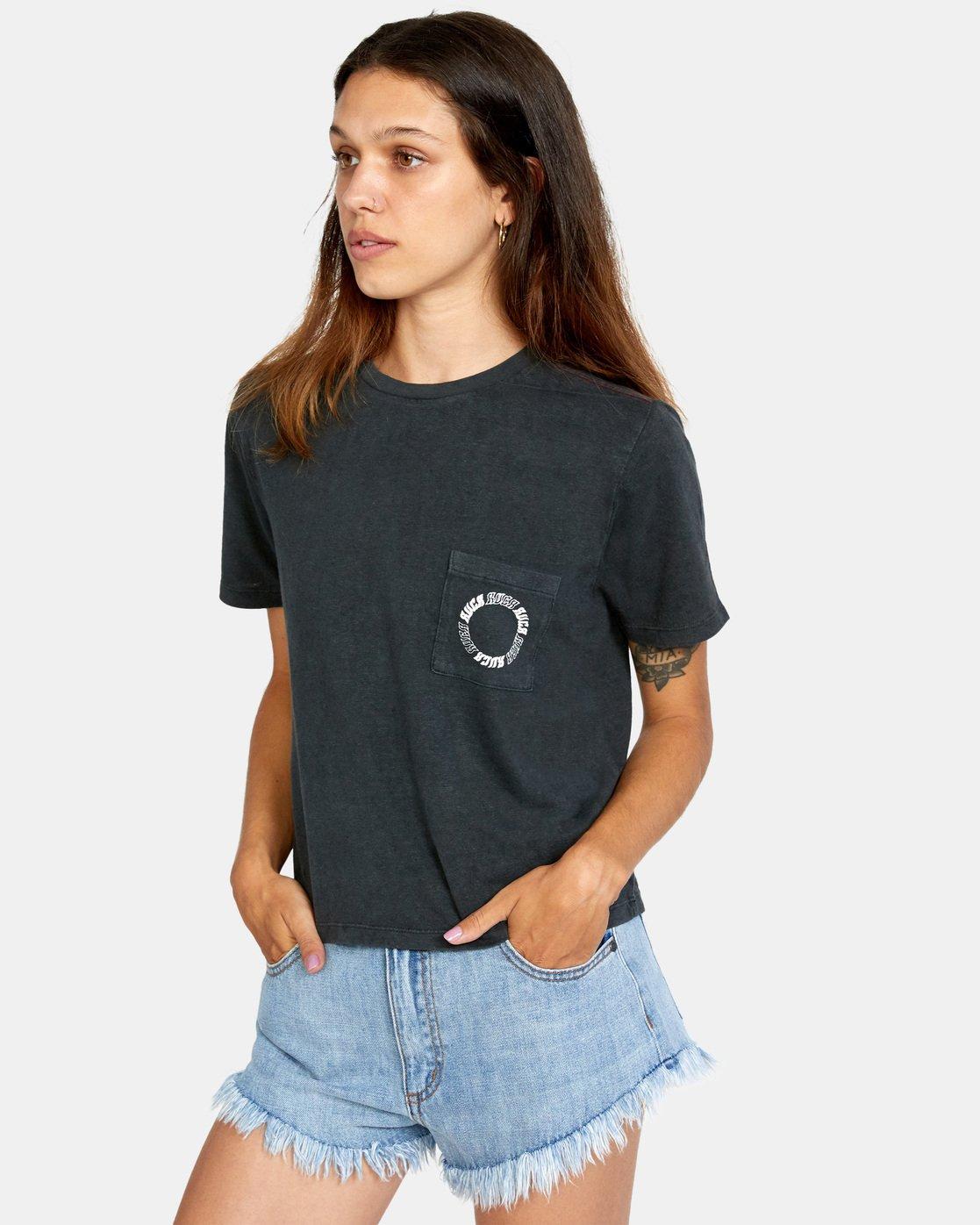 3 Opposites Unite Short Sleeve Tee Black AVJZT00295 RVCA
