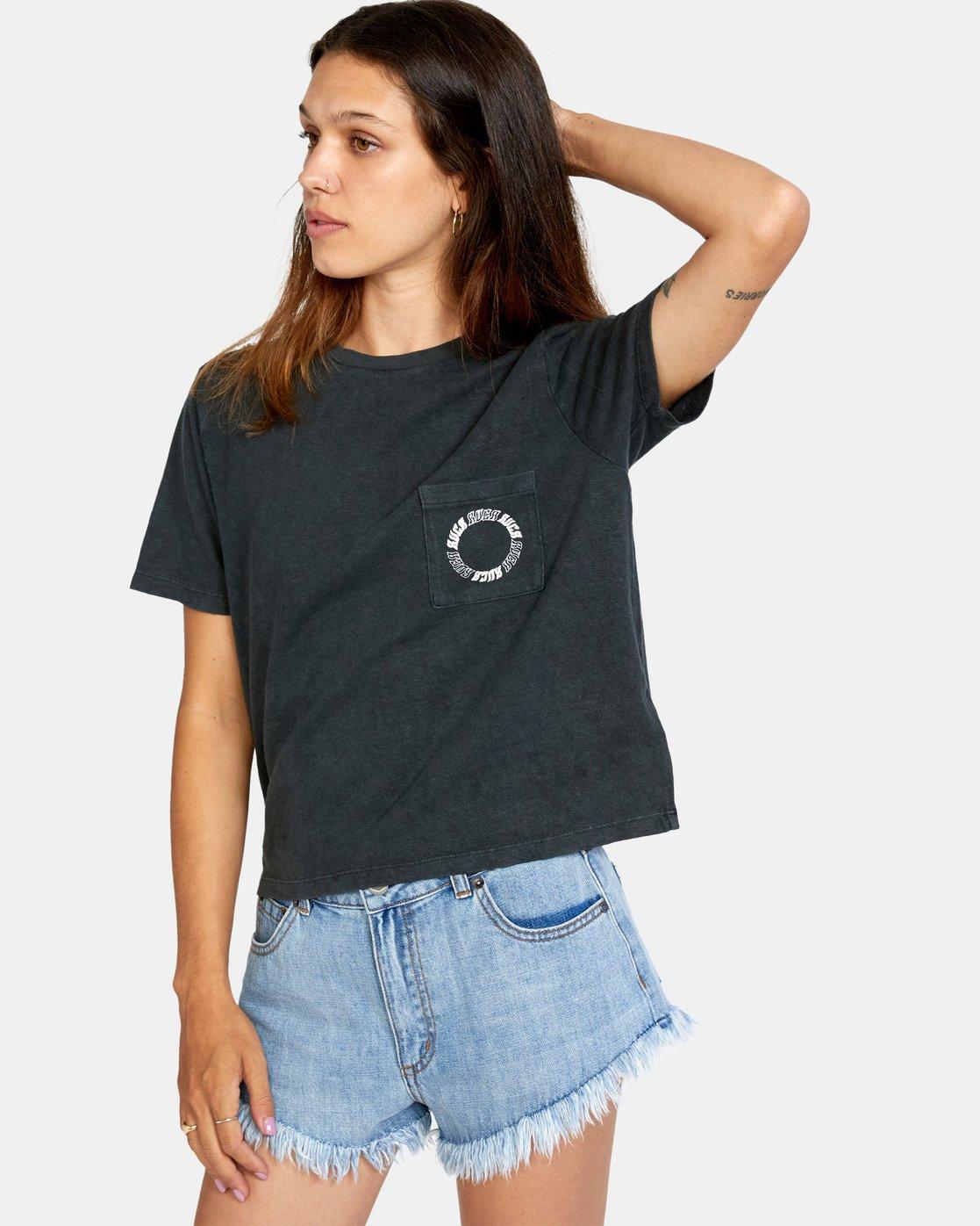 6 Opposites Unite Short Sleeve Tee Black AVJZT00295 RVCA
