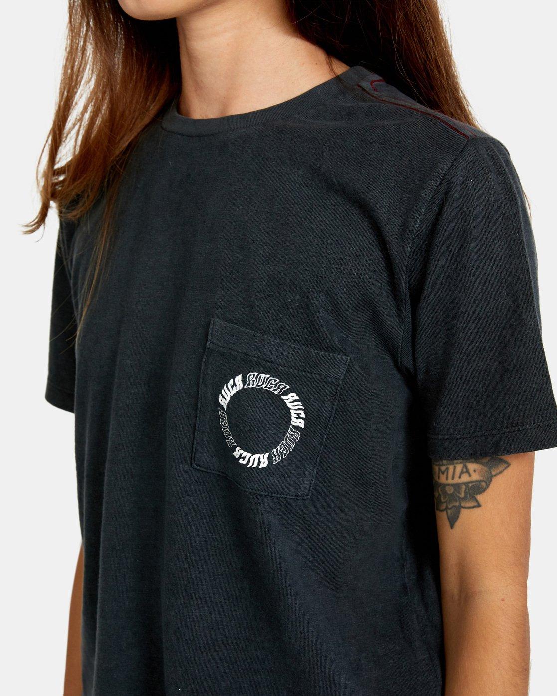 8 Opposites Unite Short Sleeve Tee Black AVJZT00295 RVCA