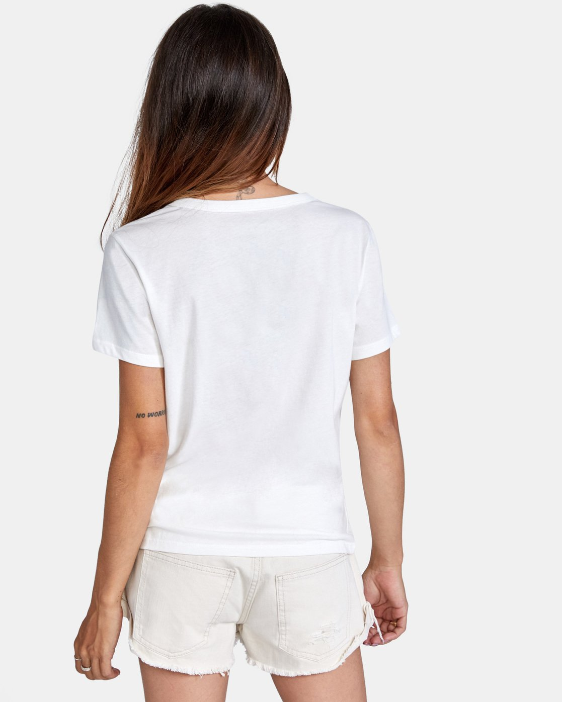 1 Peace Short Sleeve Tee White AVJZT00296 RVCA