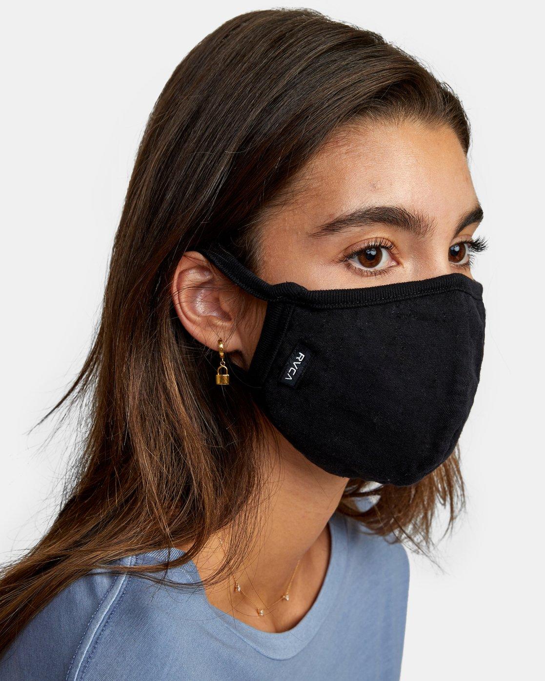 4 RVCA Face Mask Black AVYAA00119 RVCA