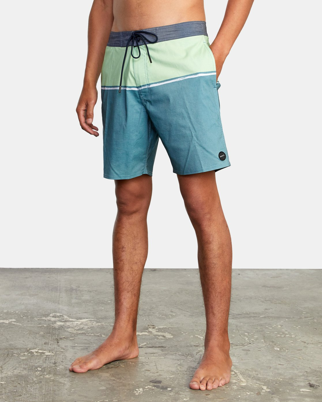 "3 COUNTY BOARDSHORT 18"" Blue AVYBS00120 RVCA"