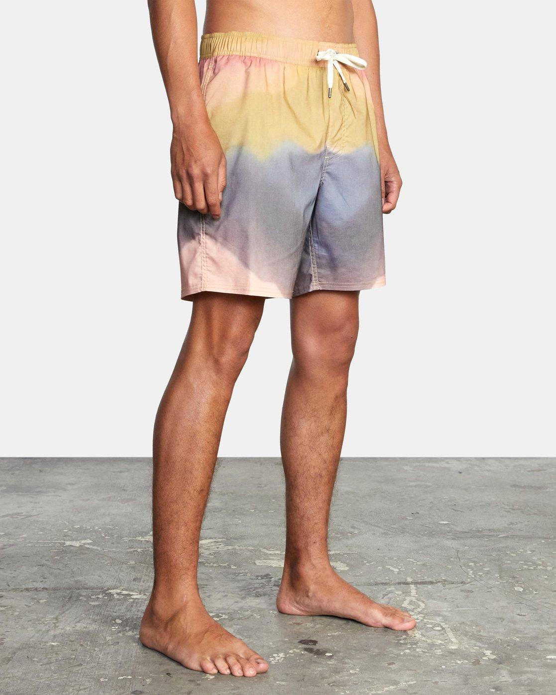 "4 Dana Trippe Trippy Elastic Boardshort 17"" Grey AVYBS00155 RVCA"