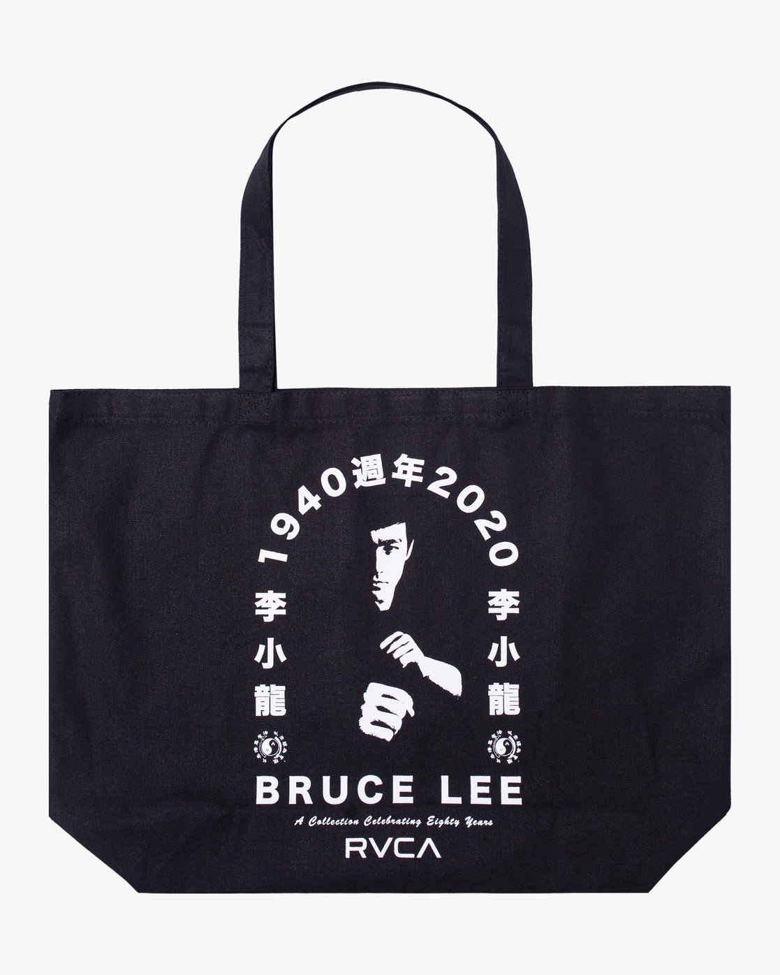 0 BRUCE LEE EIGHTY YEARS TOTE BAG Black AVYBT00108 RVCA