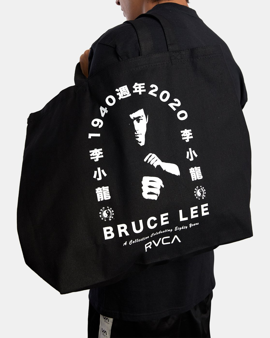 3 BRUCE LEE EIGHTY YEARS TOTE BAG Black AVYBT00108 RVCA