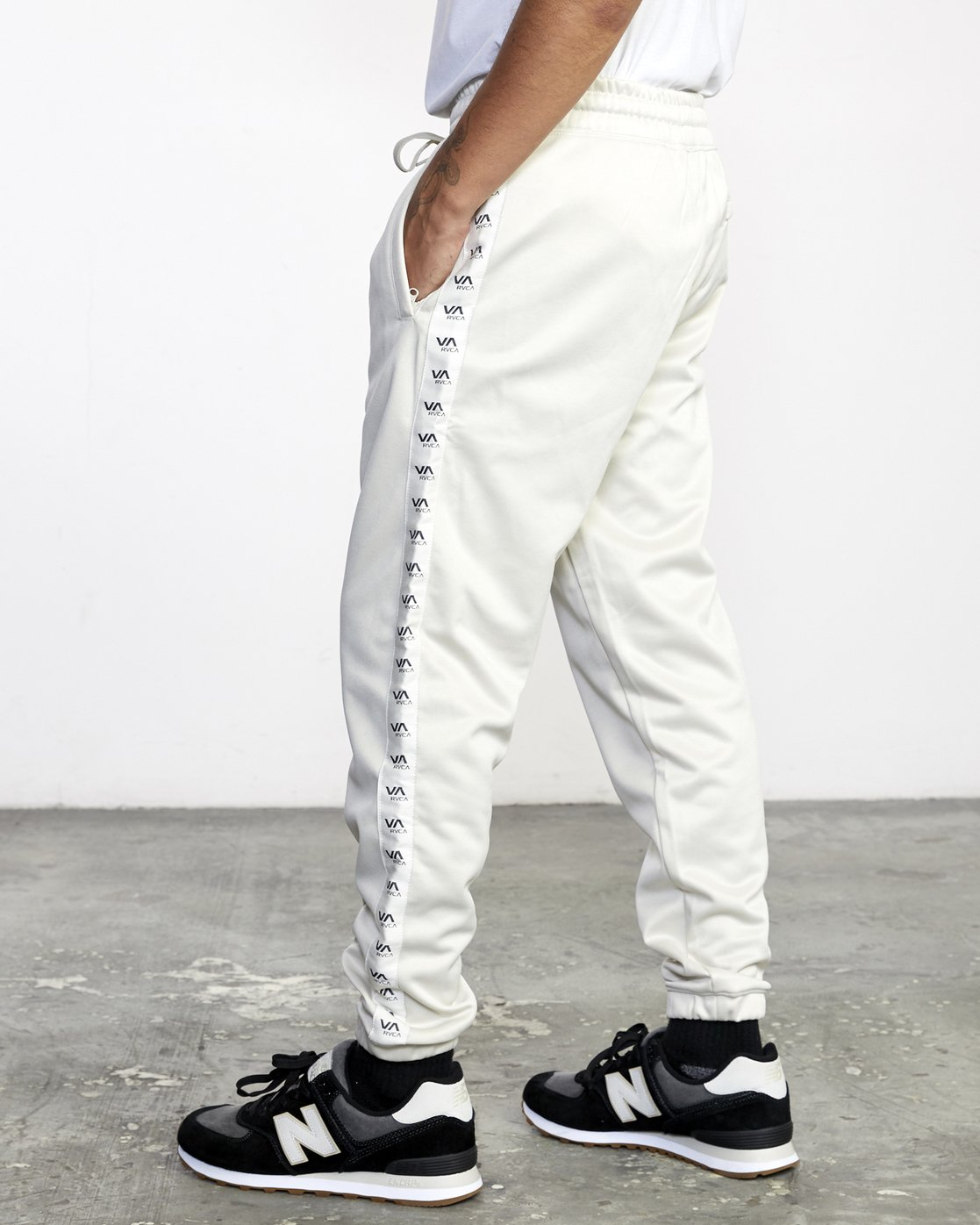 4 NORE TRACK PANT Silver AVYFB00104 RVCA