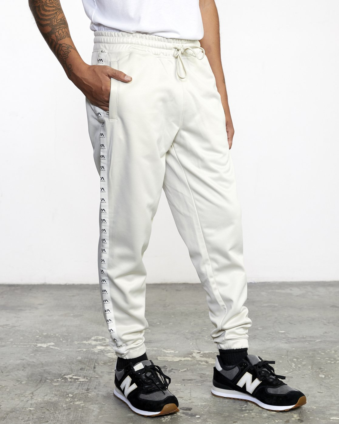 6 NORE TRACK PANT Silver AVYFB00104 RVCA