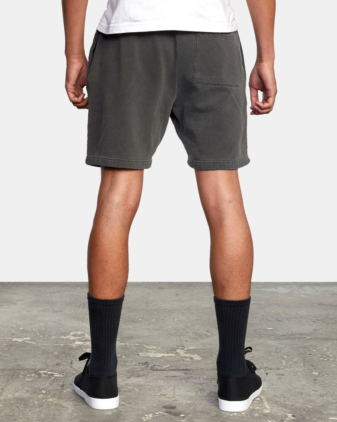 3 Jesse Brown Sweatshorts Black AVYFB00124 RVCA