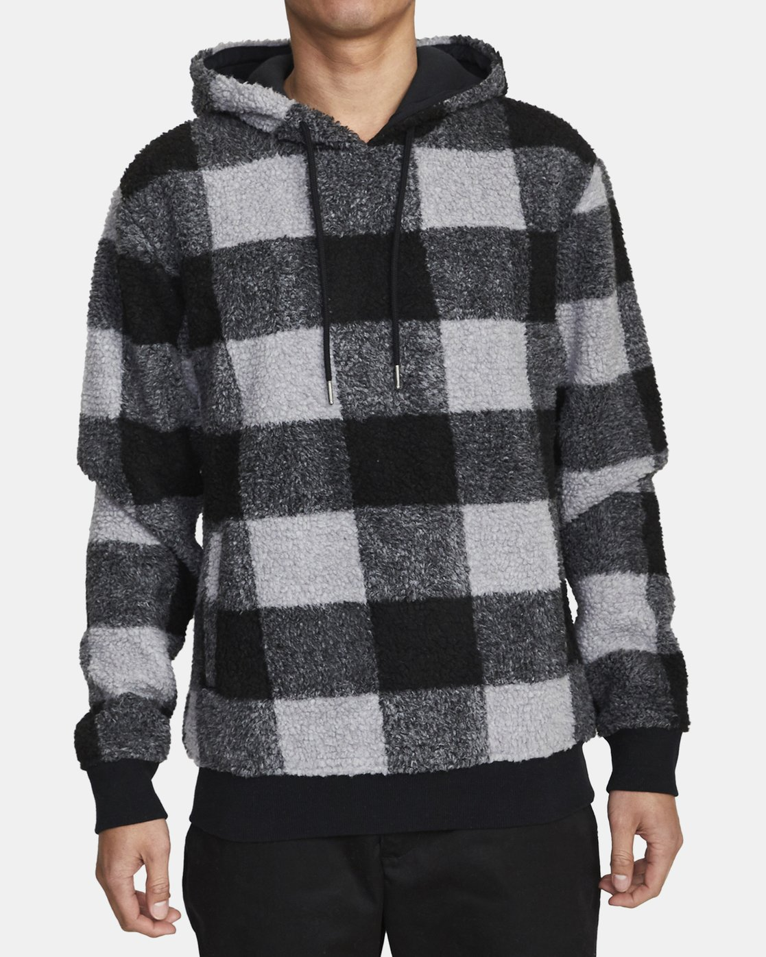 0 ELLS PLAID SHERPA HOODIE Orange AVYFT00100 RVCA