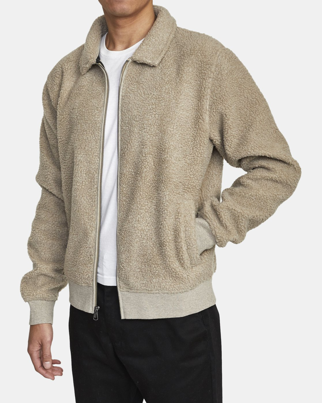 1 ERIE ZIP JACKET Beige AVYFT00110 RVCA