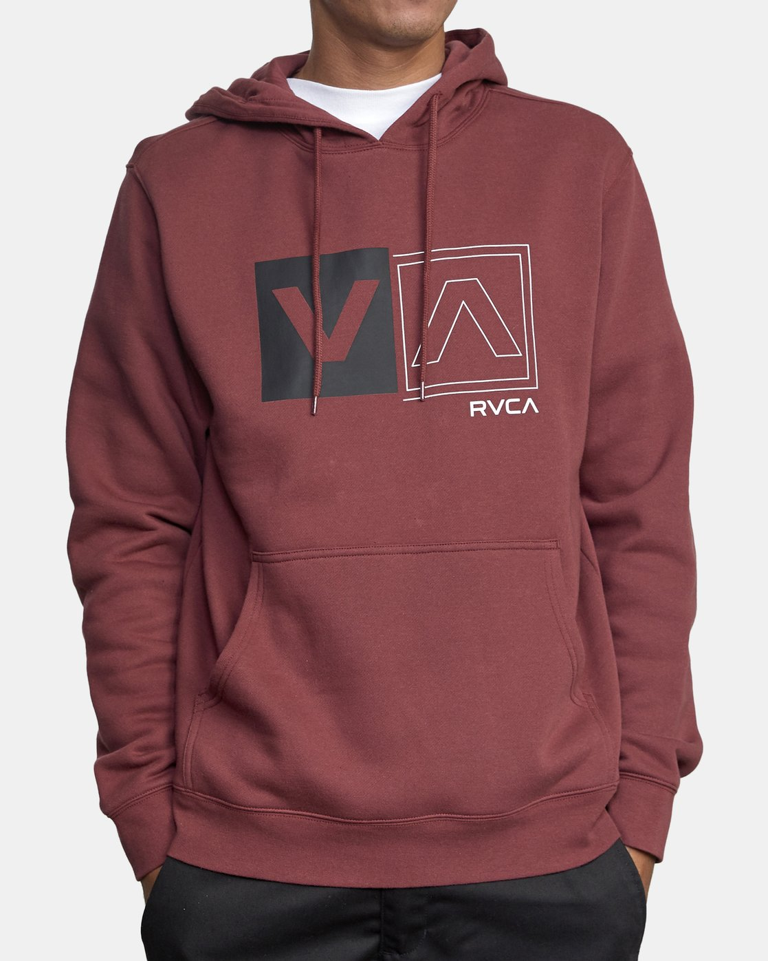 3 DIVIDED HOODIE Red AVYFT00130 RVCA