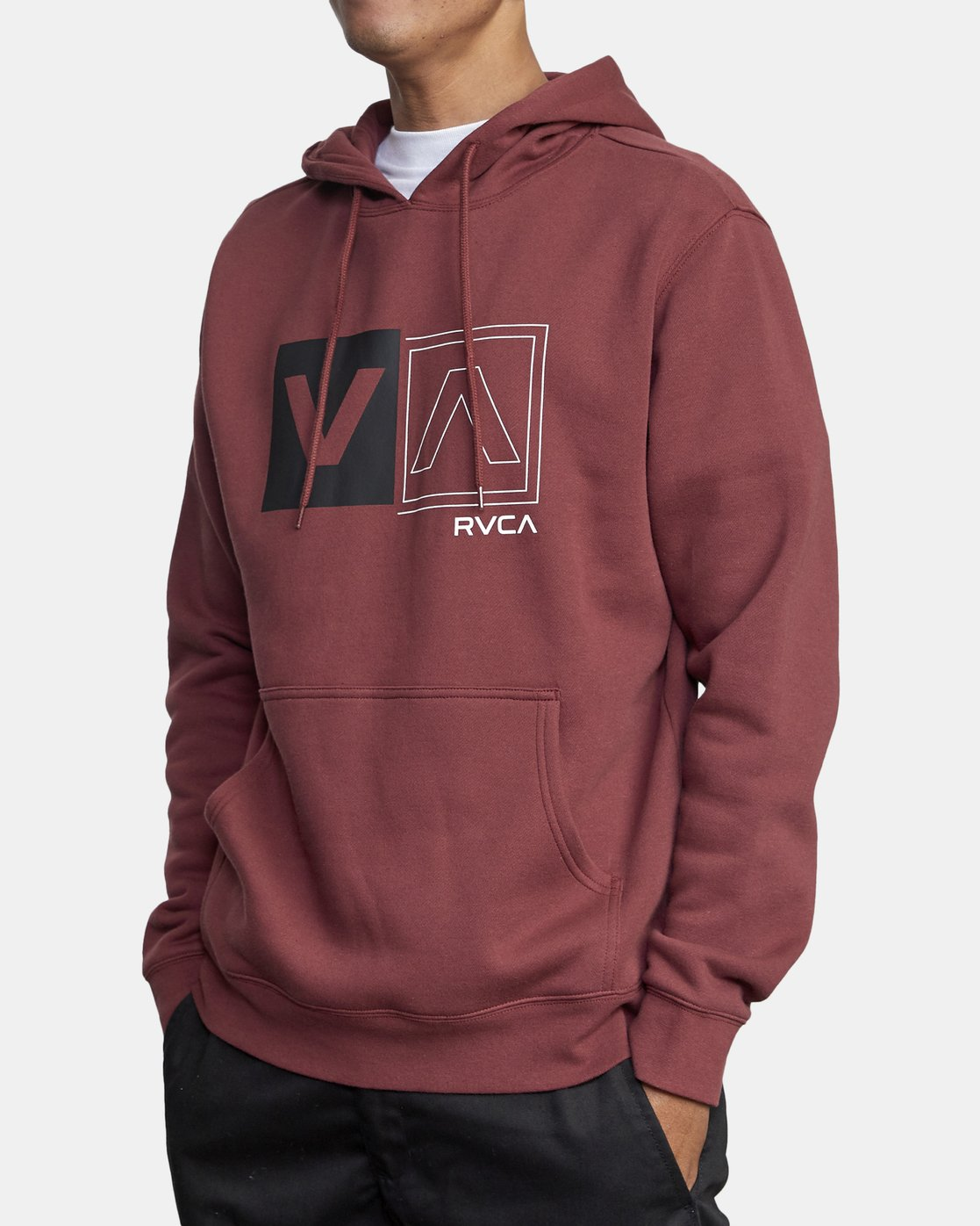 4 DIVIDED HOODIE Red AVYFT00130 RVCA