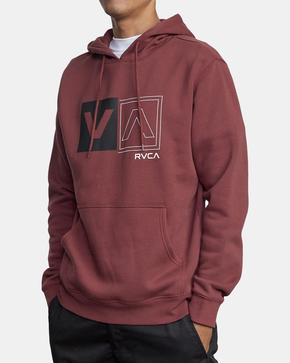 5 DIVIDED HOODIE Red AVYFT00130 RVCA